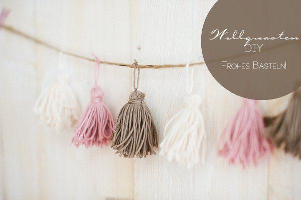 DIY Wolle Quasten Girlande