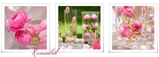 Sonntagshäppchen: Hochzeitsdeko mit Frühlingsblumen
