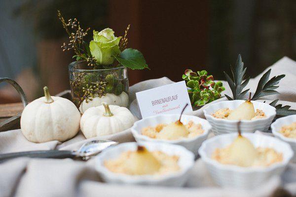 Dekokonzept für eine Hochzeit Festlicher Herbst2