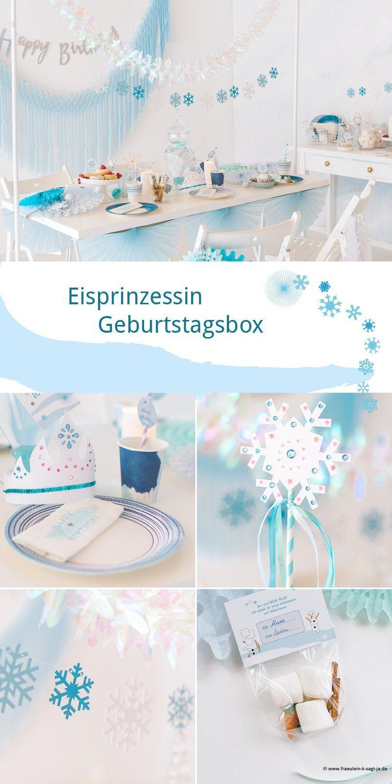 Dekoration für den Frozen Eisprinzessinnen Geburtstag