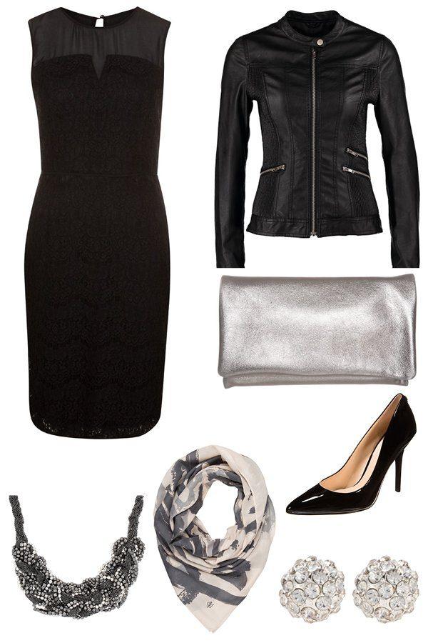 Elegantes Outfit schwarz Hochzeit
