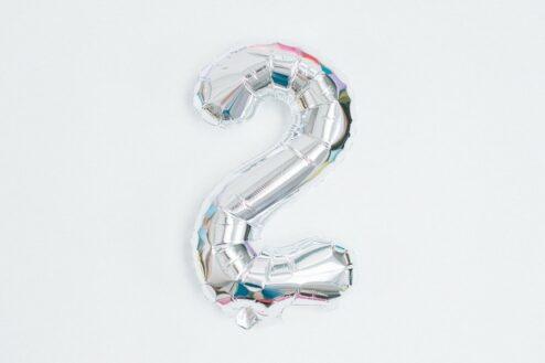 Luftballon Zahl und Buchstabe Silber
