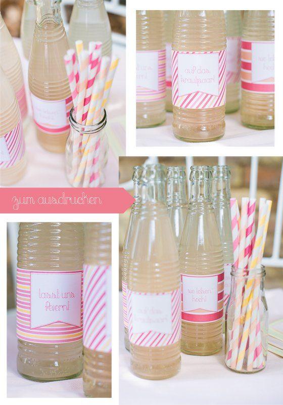 DIY: Hochzeitslabels für Drinks