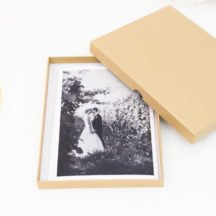 Fotoschachteln gold zum Verpacken von Fotos
