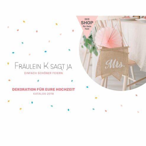 Katalog mit Hochzeitsdeko