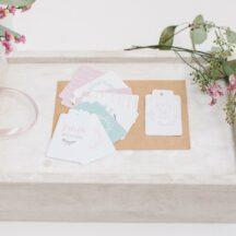 Frl. K Design Kollektion natürlich rose Anhänger Set für Geschenke-003