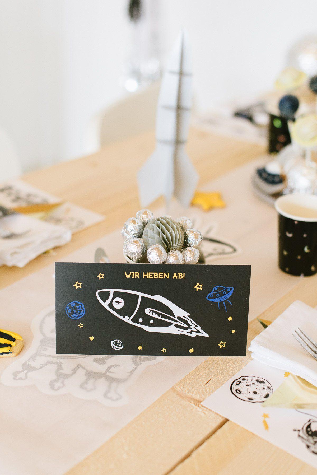 Einladung Astronautengeburtstag