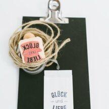 Stempel zur Hochzeit: Glück und Liebe