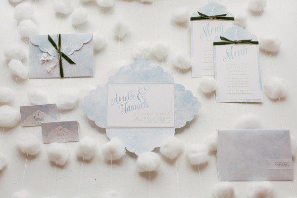 Hochzeitseinladung als Wolke - Fräulein K sagt Ja