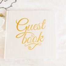 Gästebuch creme mit Goldfolienprägung-2