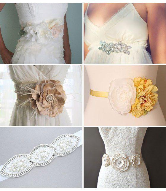 Pimp dein Brautkleid – schmucke Gürtel und Bänder