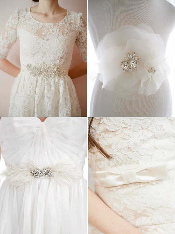 Gürtel zum Binden fürs Brautkleid