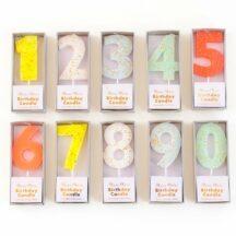 Geburtstagskerzen Zahlen Goldglitter Meri meri -1