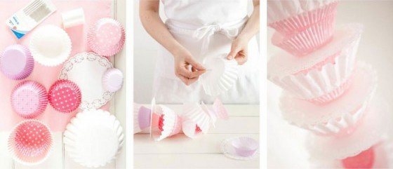 DIY: Girlande aus Muffin Förmchen