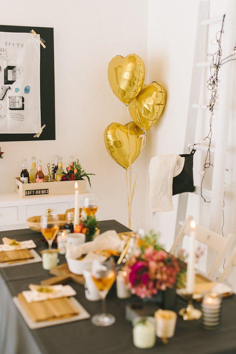 Goldene Herzballons als Ehecatcher