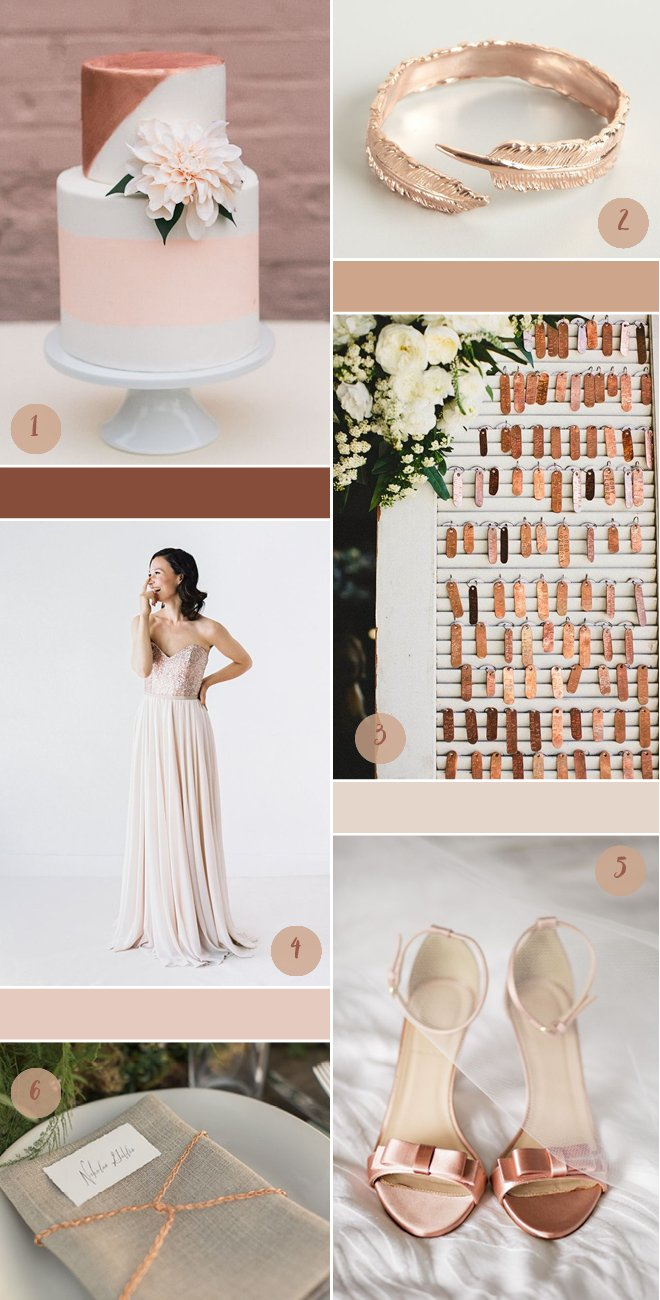 Roségold Kupfer Blush Kuschlig Warme Hochzeitsfarben Im Herbst