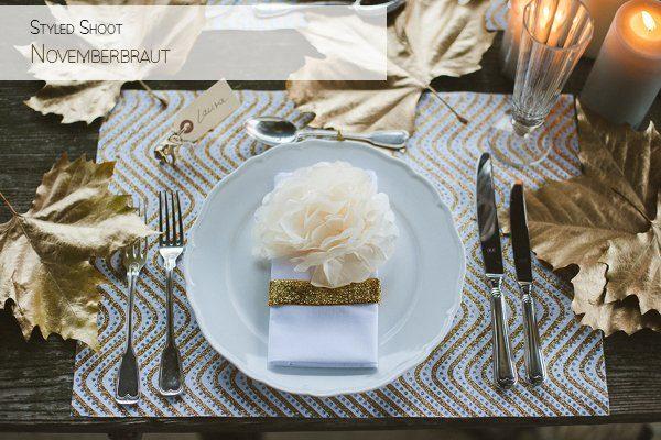 Hochzeit im Winter mit Gold und Glitzer von Fraeulein K sagt Ja