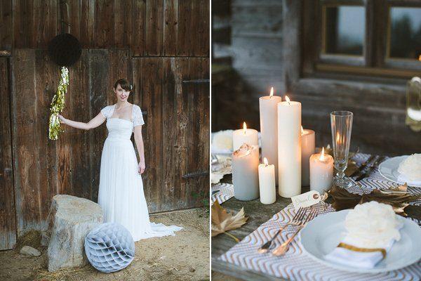Hochzeit im Winter mit Gold und Glitzer von Fraeulein K sagt Ja 15