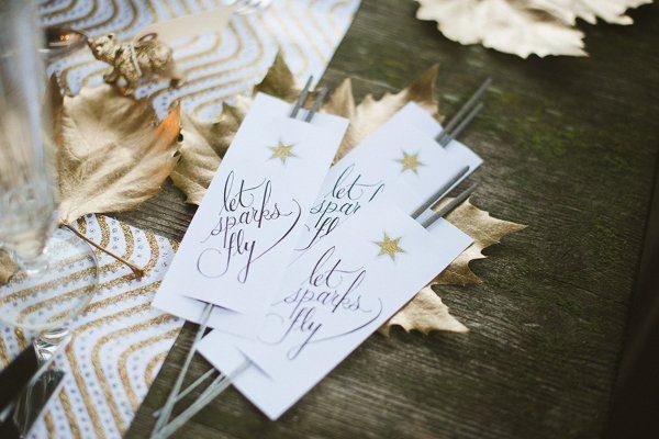Hochzeit im Winter mit Gold und Glitzer von Fraeulein K sagt Ja 3