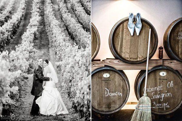 Hochzeitin den Weinbergen von Katja Schünemann