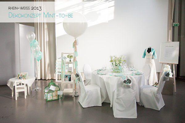 Hochzeitsdeko Türkis Hochzeitsmesse rhein-weiss