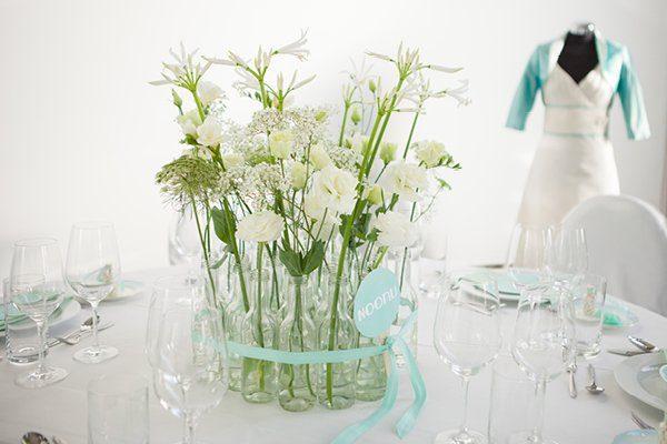 Hochzeitsdeko Türkis Hochzeitsmesse rhein-weiss13