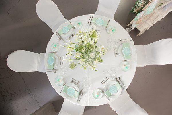 Hochzeitsdeko Türkis Hochzeitsmesse rhein-weiss4