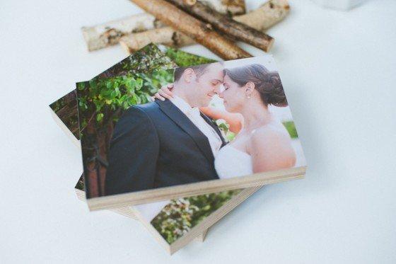 Hochzeitsfotos auf Holz? Aber ja doch!!