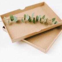 Hochzeitsfotos in Kraftpapier Karton verpacken-7