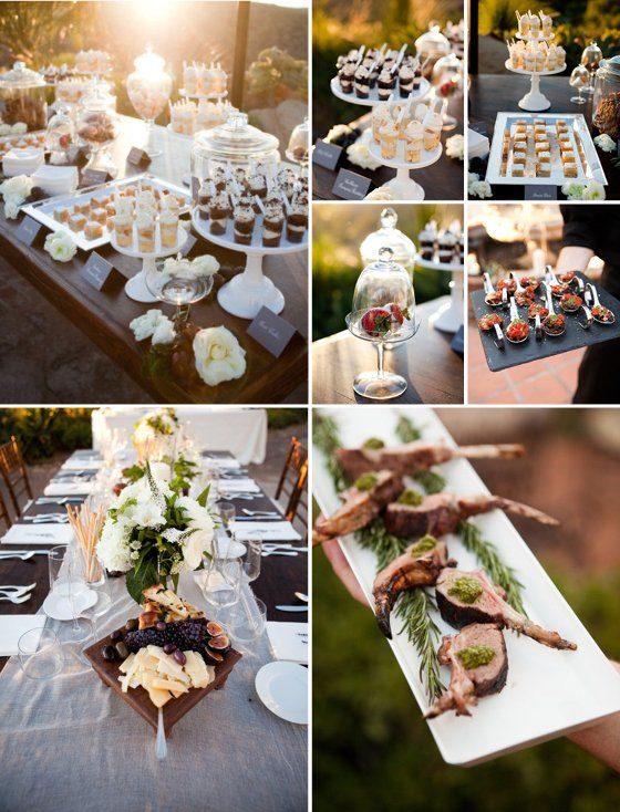 Hochzeitsmenü sommerlich