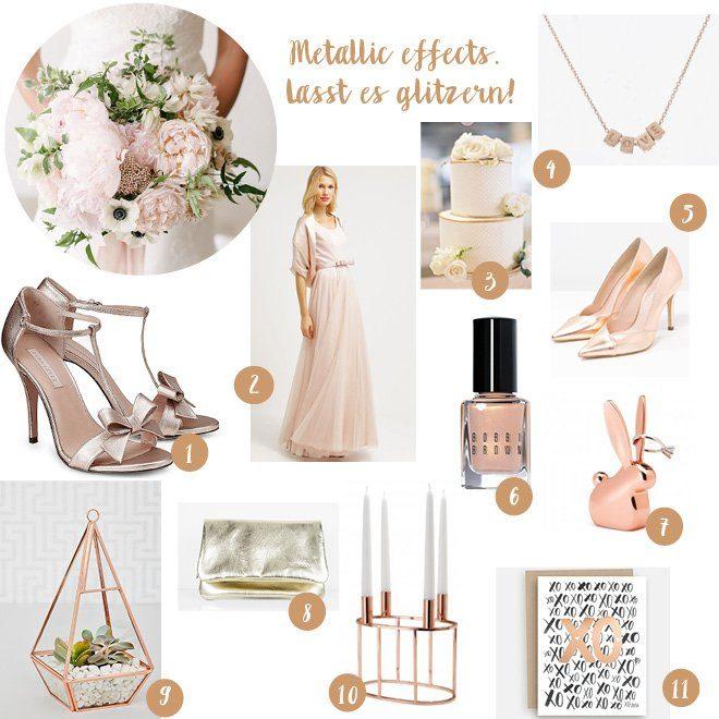 Hochzeitstrend Metallic - Hochzeitsblog Frl. K sagt Ja