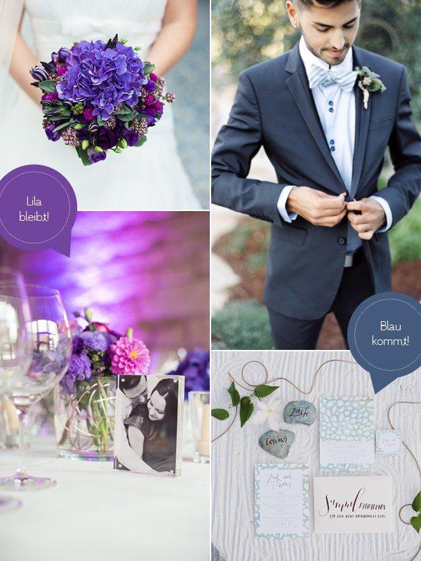 Hochzeitstrends 2015 Blau Lila