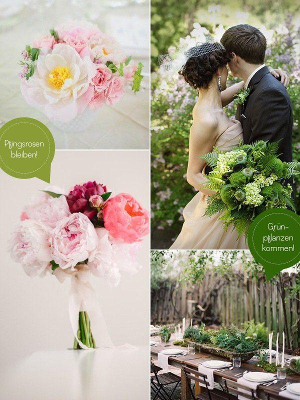 Hochzeitstrends 2015 Grünpflanzen Pfingstrosen