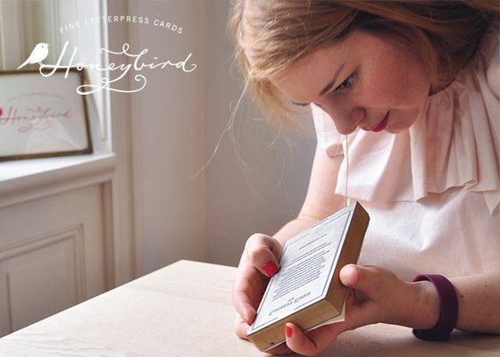 Letterpress Liebe von Honeybird