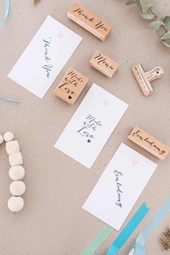 I Box Stempel für die Hochzeit Kalligrafie