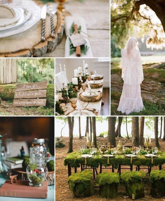 Ideaboard: eine Hochzeit im Wald