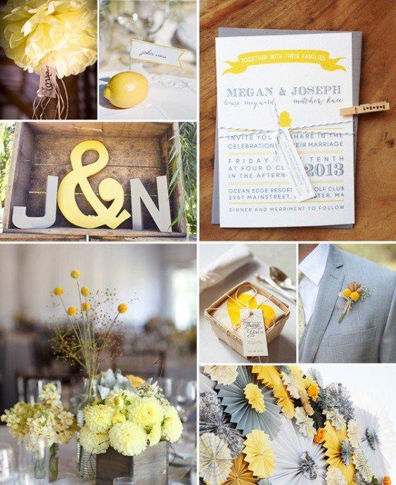 Ideaboard: Gelb und Grau, macht Lust auf Frühling