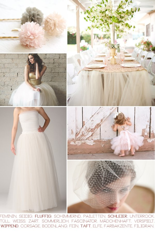 Ideen mit Tüll für die Hochzeit