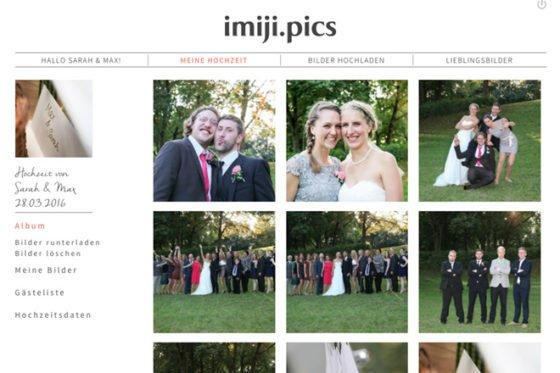 Hochzeitsfotos sicher sammeln und teilen: imiji