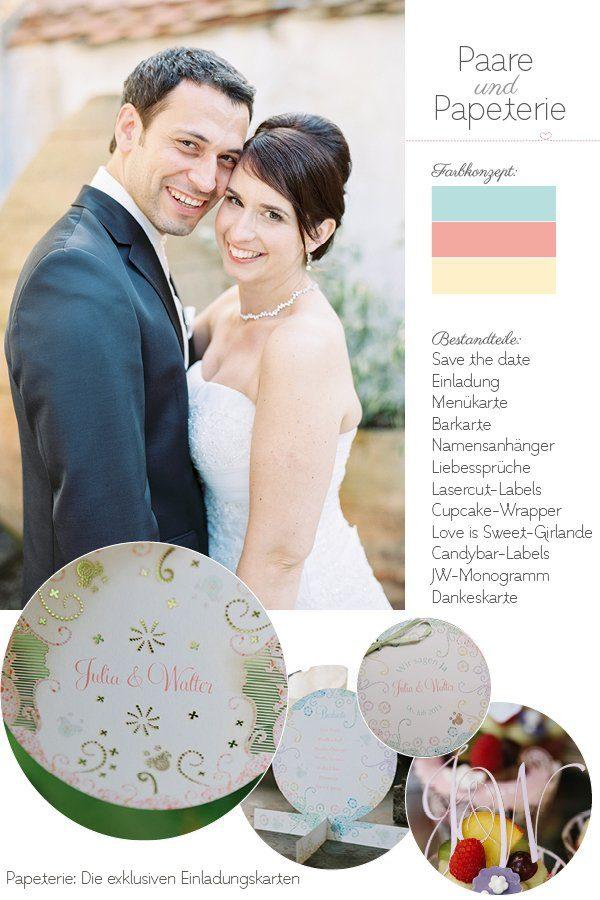 Paare und Papeterie Die exklusiven Einladungskarten