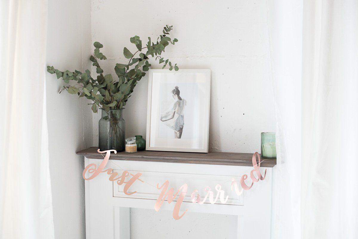 just married girlande ros gold hochzeitsblog fr ulein k. Black Bedroom Furniture Sets. Home Design Ideas