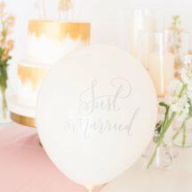 Just married ballon weiß-1