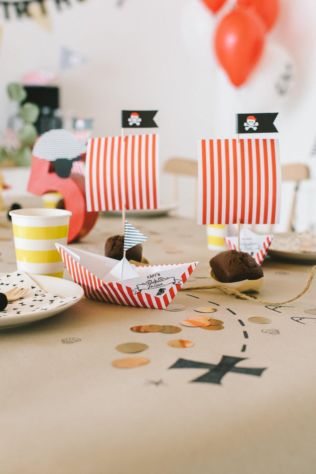 Kuchenschiffe Kindergeburtstag Pirat