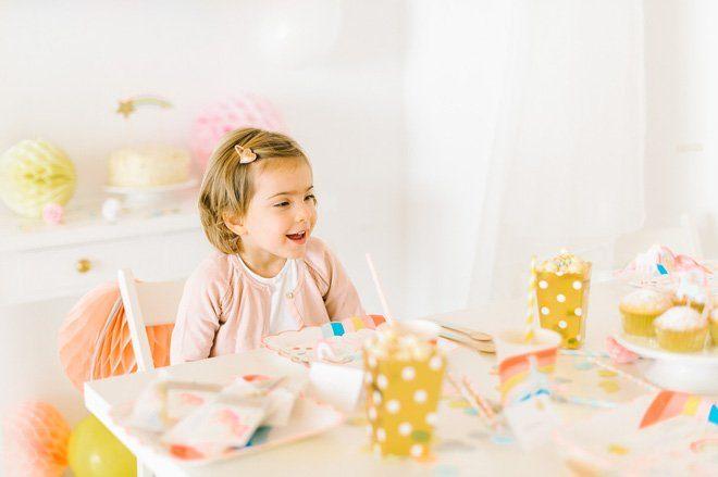 Kindergeburtstag Einhorn Party Unterm Regenbogen Fraulein K Sagt