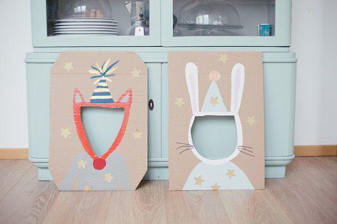 Süße Idee für den Kindergeburtstag: Foto Booth Masken