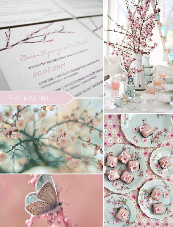 Frühlingssehnsucht: Hochzeitskonzept mit Kirschblüten…