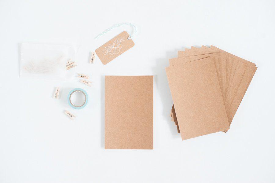 20 kraftpapier postkarten hochzeitsblog fr ulein k sagt - Blanko postkarten ...