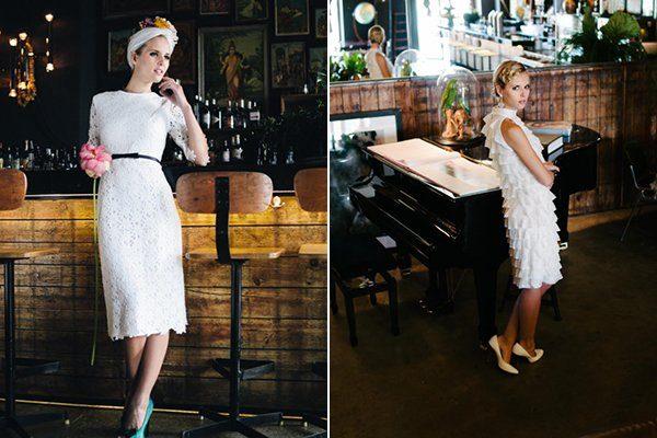 Kurze Brautkleider 60er Jahre