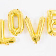 LOVE Ballon Set Gold Silber-004