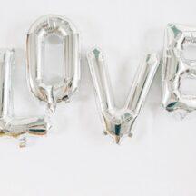 LOVE Ballon Set Gold Silber-005